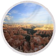 Sunset Colours Bryce Canyon 2 Round Beach Towel