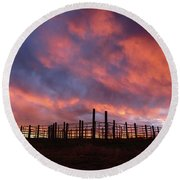 Sunset Corral Round Beach Towel