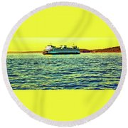 Sunset Cruise On The Ferry Round Beach Towel
