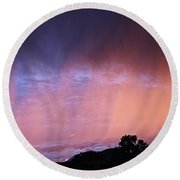 Sunset Curtain Round Beach Towel