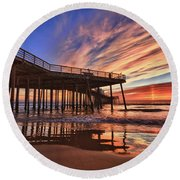 Sunset Drama Round Beach Towel