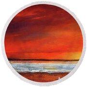 Sunset Dreamin Round Beach Towel