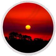 Sunset Dreaming Round Beach Towel