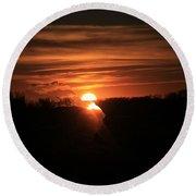 Sunset Dreams 2 Round Beach Towel