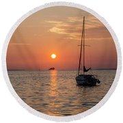 Sunset Dreams - Florida Round Beach Towel