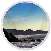 Sunset Eagle Round Beach Towel