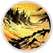 Sunset Extreme Round Beach Towel