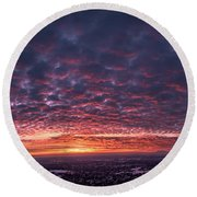 Sunset For Days Round Beach Towel