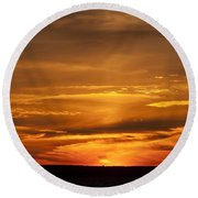 Sunset Gate 17 Round Beach Towel