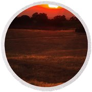 Sunset Gate Round Beach Towel
