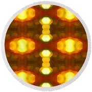 Sunset Glow 1 Round Beach Towel