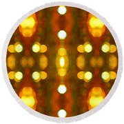 Sunset Glow 2 Round Beach Towel by Amy Vangsgard