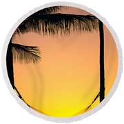Sunset Hammock Round Beach Towel