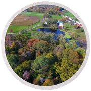 Sunset Hill Farms Indiana  Round Beach Towel