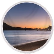 Sunset In Cabo Round Beach Towel