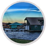 Sunset In Coffee Round Beach Towel