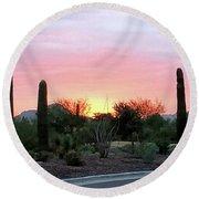 Arizona Sunset Round Beach Towel