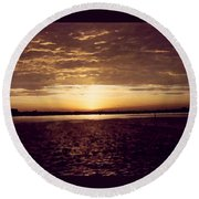 Sunset In Fl Round Beach Towel