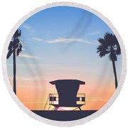 Sunset In Paradise  Round Beach Towel