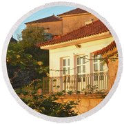 Sunset In Portugal  Round Beach Towel