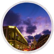 Sunset It Campeche City Downtown Round Beach Towel