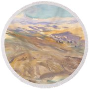 Sunset, John Singer Sargent Round Beach Towel