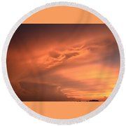 Sunset Round Beach Towel