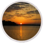 Sunset Lake Pat Mayse From Sanders Cove Round Beach Towel