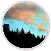 Sunset Moon Round Beach Towel