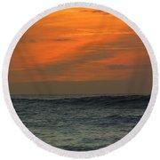 Sunset Ohau Round Beach Towel