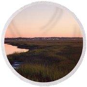 Sunset On Broad Creek Hilton Head South Carolina Round Beach Towel