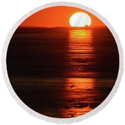 Sunset On February 26-2018 Over Barrie  Round Beach Towel