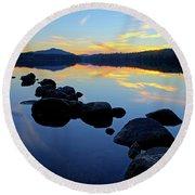 Sunset On Lake Harris 2 Round Beach Towel