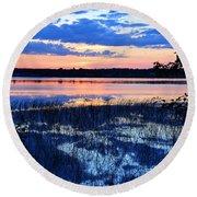 Sunset On Porcupine Lake Round Beach Towel
