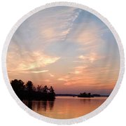 Sunset On The Chippewa Round Beach Towel