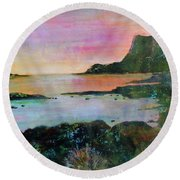 Sunset On The Isle Of Skye Round Beach Towel