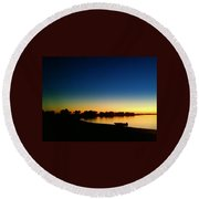 Sunset On The Lake... Round Beach Towel