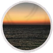 Sunset Over Ceaserea Round Beach Towel