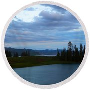 Sunset Out West Round Beach Towel