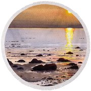 Sunset Over Cara Round Beach Towel