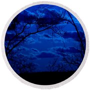 sunset over Suwanee 2009 Round Beach Towel