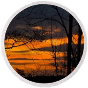 sunset over Suwanee 2010 Round Beach Towel