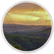 Sunset Over The Bluestone Gorge - Pipestem State Park Round Beach Towel