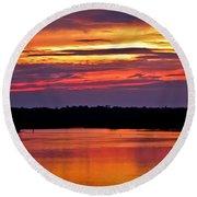 Sunset Over The Tomoka Round Beach Towel
