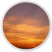 Sunset Ovr Lake Michigan Chicago Il Usa Round Beach Towel