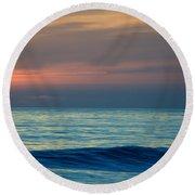 Sunset Paddle Round Beach Towel