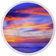 Sunset Palette Round Beach Towel