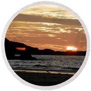 Sunset Part 3 Round Beach Towel