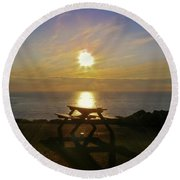 Sunset Picnic Round Beach Towel