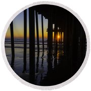 Sunset Pismo Beach Round Beach Towel